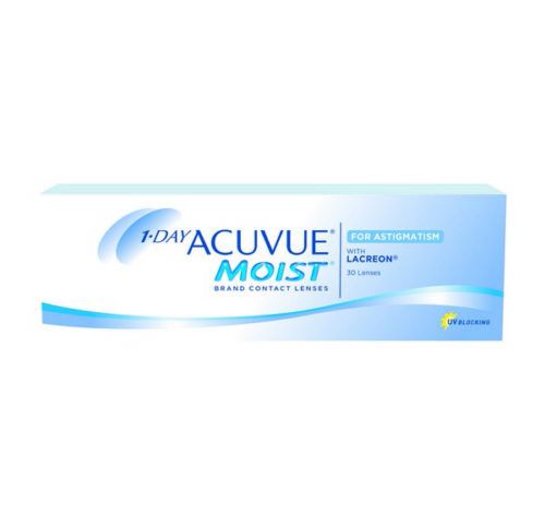 Acuvue Moist Astigmatism Contact Lenses Product Box 30 Pack