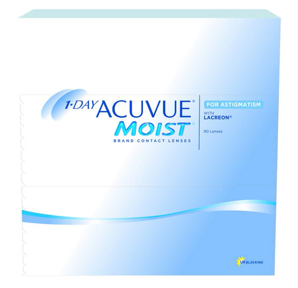Acuvue Moist Astigmatism Contact Lenses Product Box 90 Pack