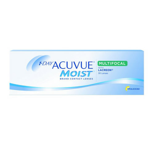 Acuvue Moist Multifocal Contact Lenses Product Box 30 Pack