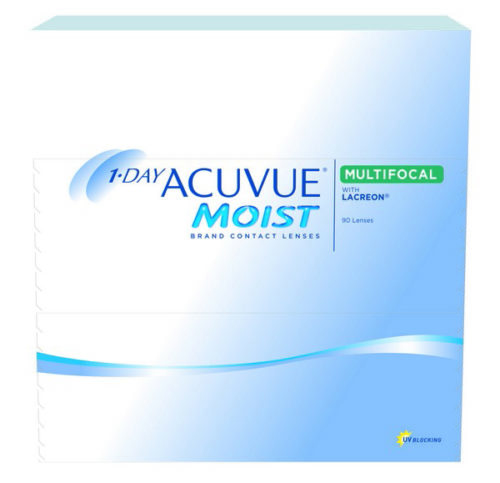 Acuvue Moist Multifocal Contact Lenses Product Box 90 Pack