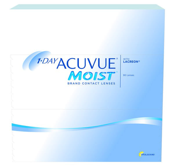 Acuvue Moist Contact Lenses Product Box 90 Pack
