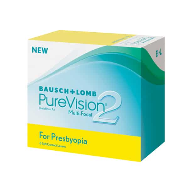 Bausch & Lomb Purevision2 Multi-focal Contact Lenses Product Box