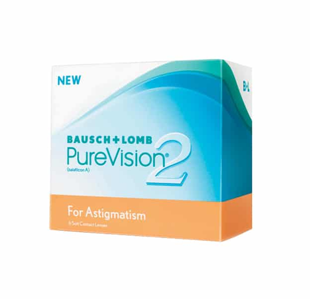 Bausch & Lomb Purevision2 Astigmatism Contact Lenses Product Box